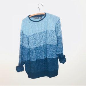 Vintage Retro 90's Color Blocked Oversized Sweater